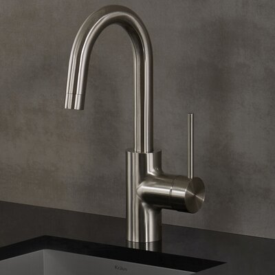 Oletto Single Handle Pull Down Bar Faucet Finish: Stainless Steel