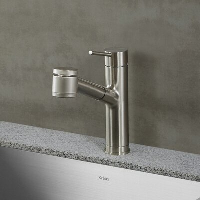 Oletto Single Handle Pull Down Kitchen Faucet Finish: Stainless Steel