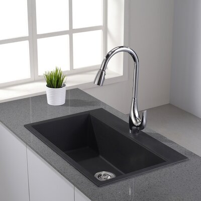 Granite 31 x 20.08 Undermount/Topmount Kitchen Sink