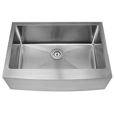 Stainless Steel 29.75 x 20 Farmhouse Kitchen Sink with NoiseDefend Soundproofing