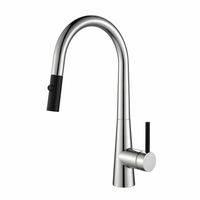 Crespo� Single Handle Pull Down Kitchen Faucet Finish: Chrome