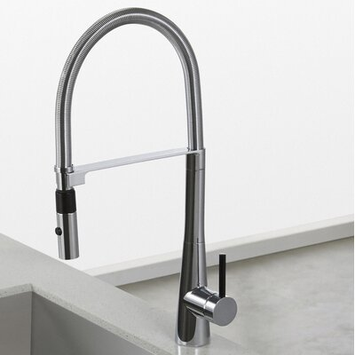 Crespo Single Handle Kitchen Faucet Finish: Chrome