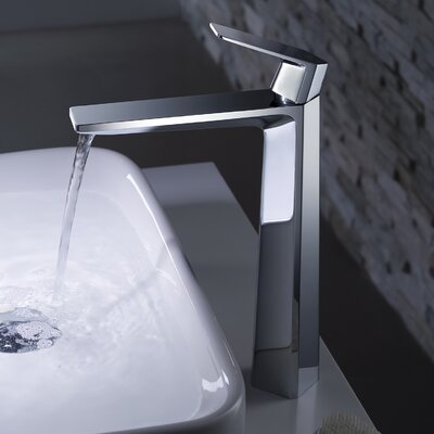 Exquisite Vessel Single Hole Single Handle Bathroom Faucet Finish: Chrome