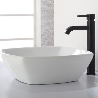 Ramus Single-Handle Vessel Sink Bathroom Faucet Finish: Oil Rubbed Bronze