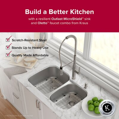 Outlast MicroShield� 32 x 21 Double Basin Undermount Kichen Sink