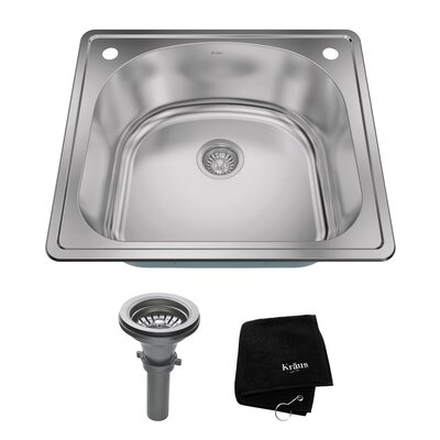 Kitchen Combos Stainless Steel 25 x 22 Drop-In  Kitchen Sink