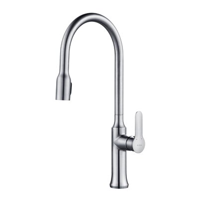 Nola� Single Handle Pull Down Kitchen Faucet with Dual Function Sprayer Finish: Chrome