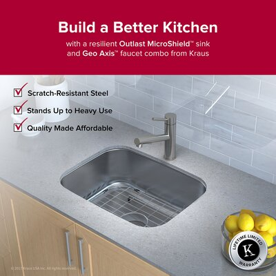 Outlast MicroShield� 23 x 17.5 Undermount Kitchen Sink