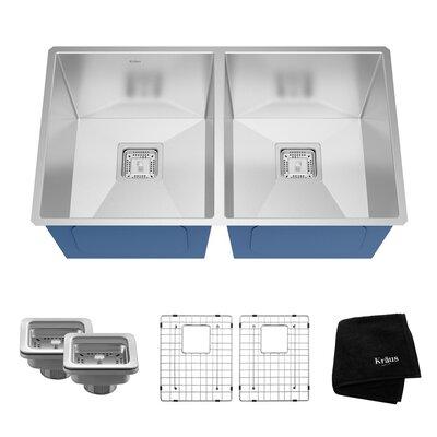 Pax� 31.5 x 18.5 Double Basin Undermount Kitchen Sink