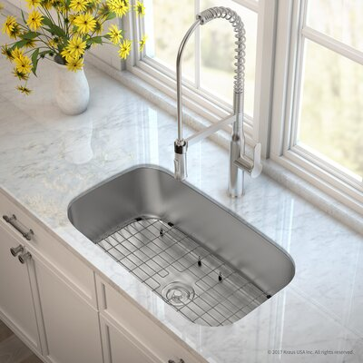 Outlast MicroShield� Stainless Steel Real 16 Gauge 31.5 x 18.38 Undermount Kitchen Sink with Faucet Finish: Stainless Steel