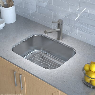 Stainless Steel 23 x 18 Undermount Kitchen Sink with Drain Assembly