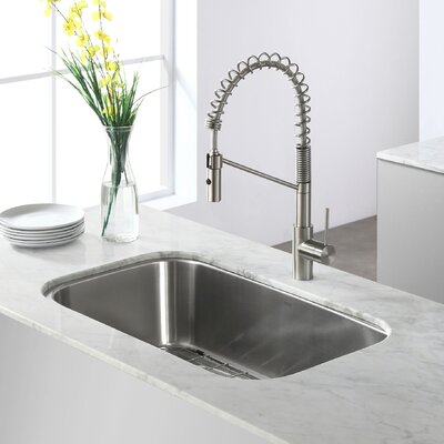 Stainless Steel 32.25 x 18.5  Undermount Kitchen Sink