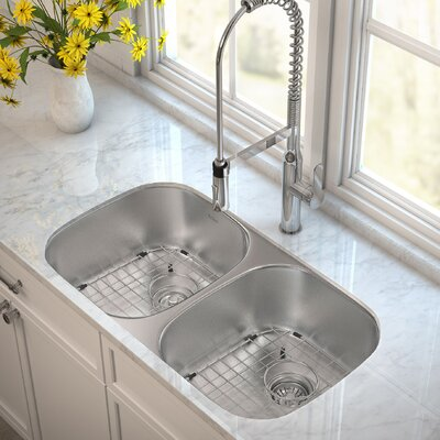 Outlast MicroShield� 32.25 x 18 Double Basin Undermount Kitchen Sink