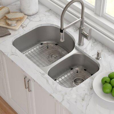 Outlast MicroShield� 31 x 18 Double Basin Undermount Kitchen Sink