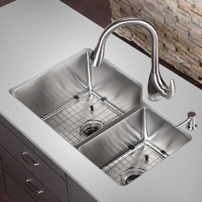 32 x 20 Double Basin Undermount Kitchen Sink