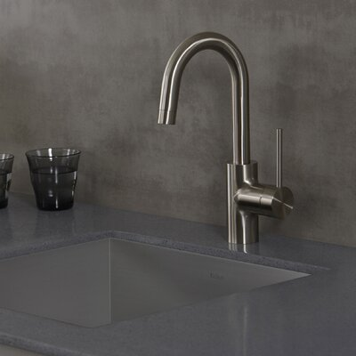 Oletto Pull Down Single Handle Bar Faucet Finish: Stainless Steel