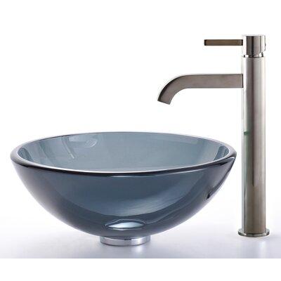 Circular Vessel Bathroom Sink Faucet Finish: Satin Nickel