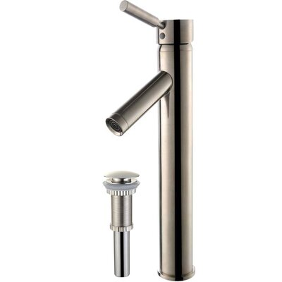 Sheven Single Hole Single Handle Bathroom Faucet with Drain Assembly Finish: Satin Nickel