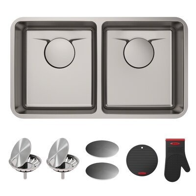 Dex� Series 33 x 19 Double Basin Undermount Kitchen Sink