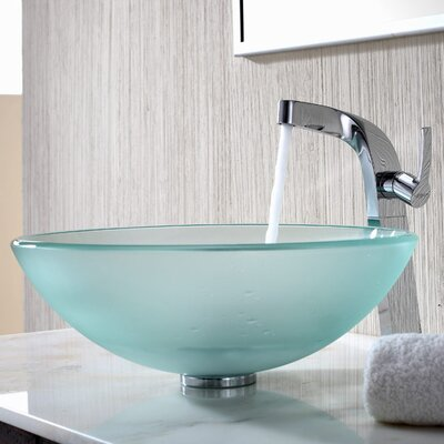 Bathroom Combos Circular Vessel Sink Bathroom Sink Sink Finish: Frosted
