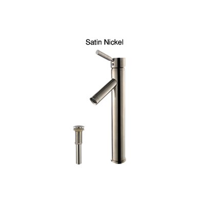 Ceramic Rectangular Vessel Bathroom Sink Faucet Finish: Satin Nickel