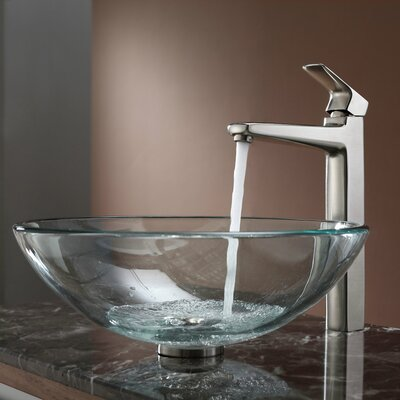 Virtus Circular Vessel Bathroom Sink Faucet Finish: Brushed Nickel