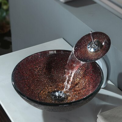 Callisto Circular Vessel Bathroom Sink Faucet Finish: Chrome