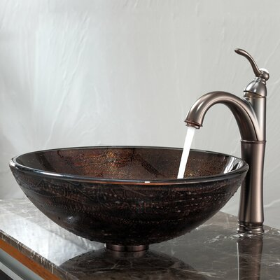 Copper Circular Vessel Bathroom Sink
