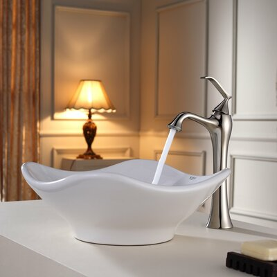 Bathroom Combos Specialty Vessel Bathroom Sink Faucet Finish: Brushed Nickel