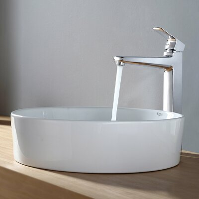 Virtus Circular Vessel Bathroom Sink Faucet Finish: Chrome