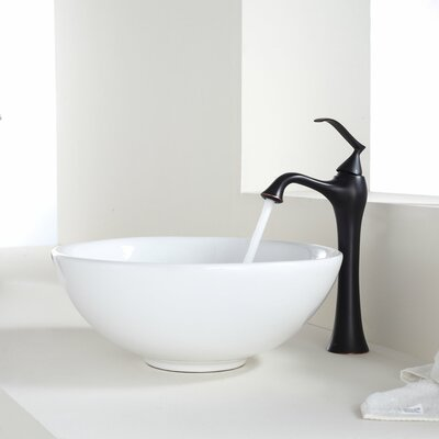 Bathroom Combos Circular Vessel Bathroom Sink Faucet Finish: Oil Rubbed Bronze