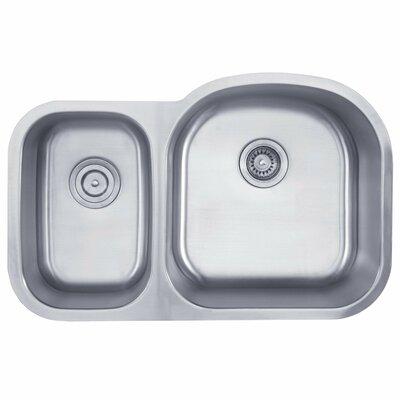 32.38 x 20.5 Double Basin Undermount Kitchen Sink