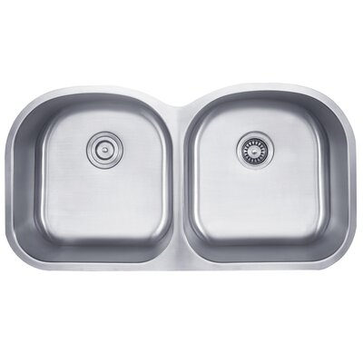 39 x 20.5 Double Basin Undermount Kitchen Sink