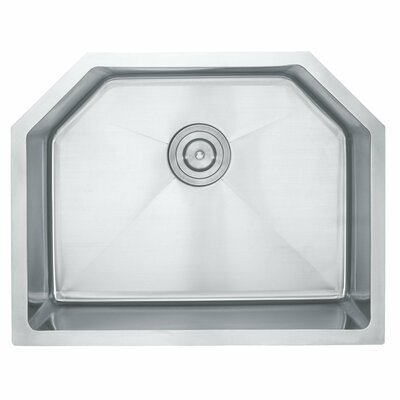 Stainless Steel 23.75 x 18.75 Undermount Kitchen Sink with NoiseDefend Soundproofing