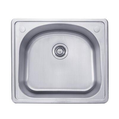 Stainless Steel 25 x 22  Drop-In  Kitchen Sink