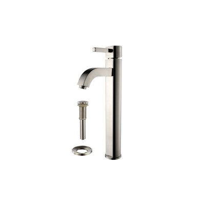 Square Vessel Bathroom Sink Faucet Finish: Satin Nickel
