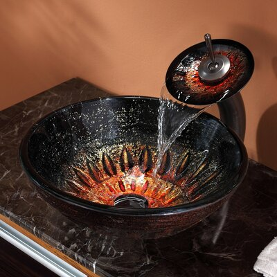 Magma Glass Circular Vessel Bathroom Sink Faucet Finish: Oil Rubbed Bronze