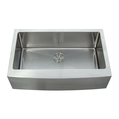 32.88 x 20.75 Farmhouse Kitchen Sink with Faucet and Soap Dispenser Faucet Finish: Satin Nickel