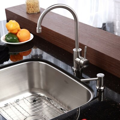 23 x 17.6 Undermount Kitchen Sink with Faucet and Soap Dispenser