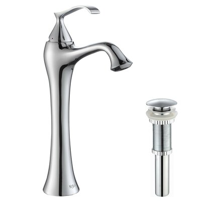 Ventus Single Hole Single Handle Bathroom Faucet with Drain Assembly Optional Accessory: With Pop Up Drain, Finish: Chrome