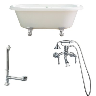 Portsmouth Dual Soaking Bathtub Metal Finish: Polished Chrome, Finish: White