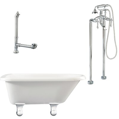 Brighton Top Soaking Bathtub Metal Finish: Polished Chrome, Finish: White