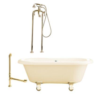Bed Bath-Portsmouth Dual Soaking Bathtub Metal Finish Satin Nickel, Finish Bisque