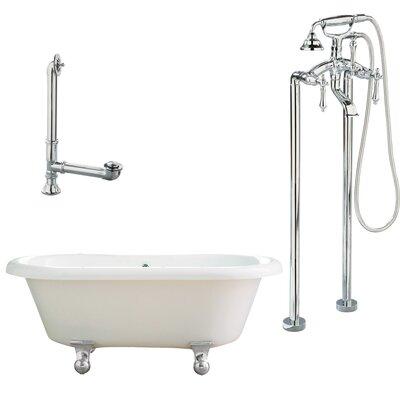 Portsmouth Dual Soaking Bathtub Metal Finish: Polished Chrome, Finish: White