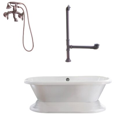 Wescott Dual Soaking Bathtub Metal Finish: Oil Rubbed Bronze, Finish: White