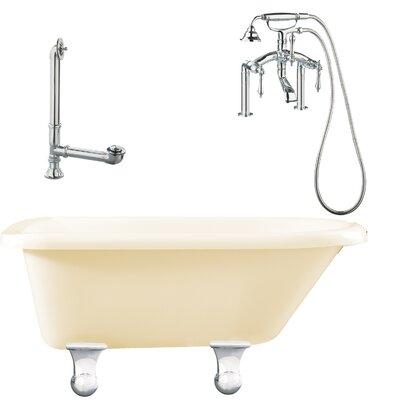 Brighton Roll Top Soaking Bathtub Metal Finish: Polished Chrome, Finish: Biscuit