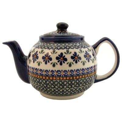 Euroquest Imports Polish Pottery 37 oz Teapot - Pattern DU60