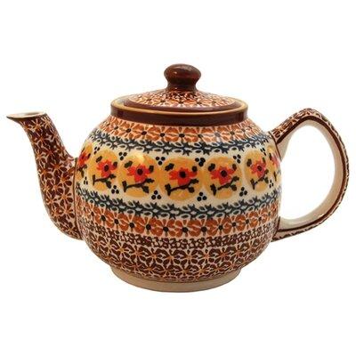 Euroquest Imports Polish Pottery 37 oz Teapot - Pattern DU70