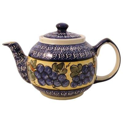 Euroquest Imports Polish Pottery 37 oz Teapot - Pattern DU8
