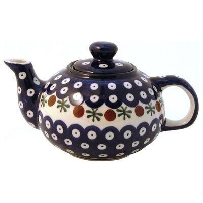 Euroquest Imports Polish Pottery 14 oz Teapot - Pattern 41A